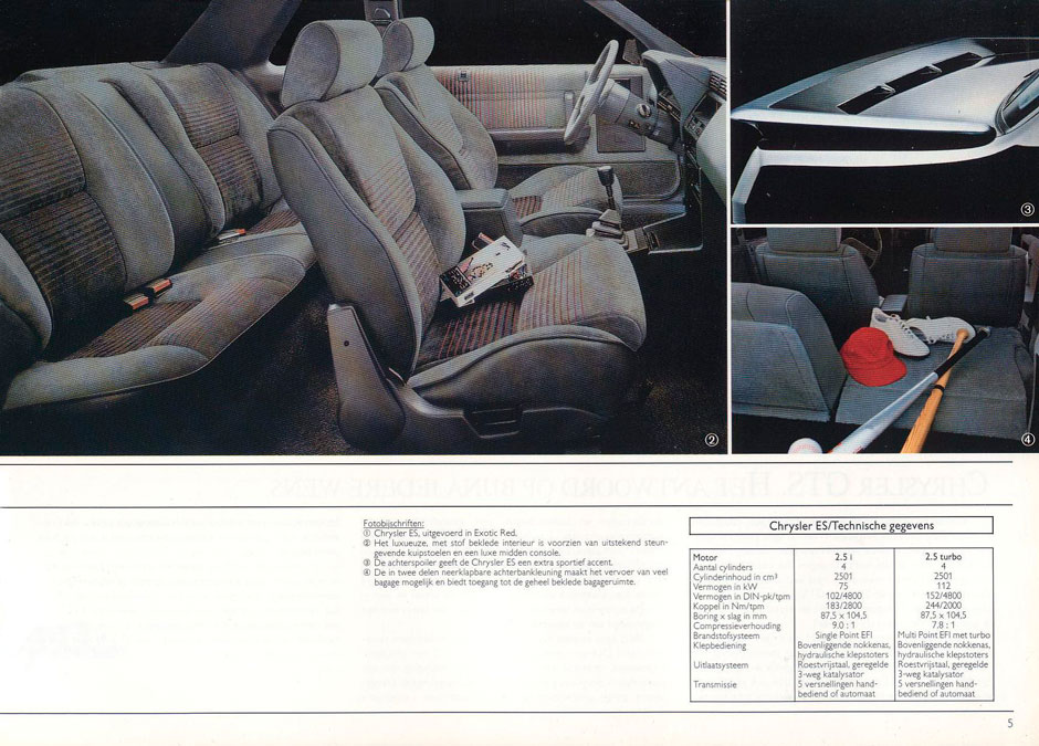 Chrysler ES Turbo 1989