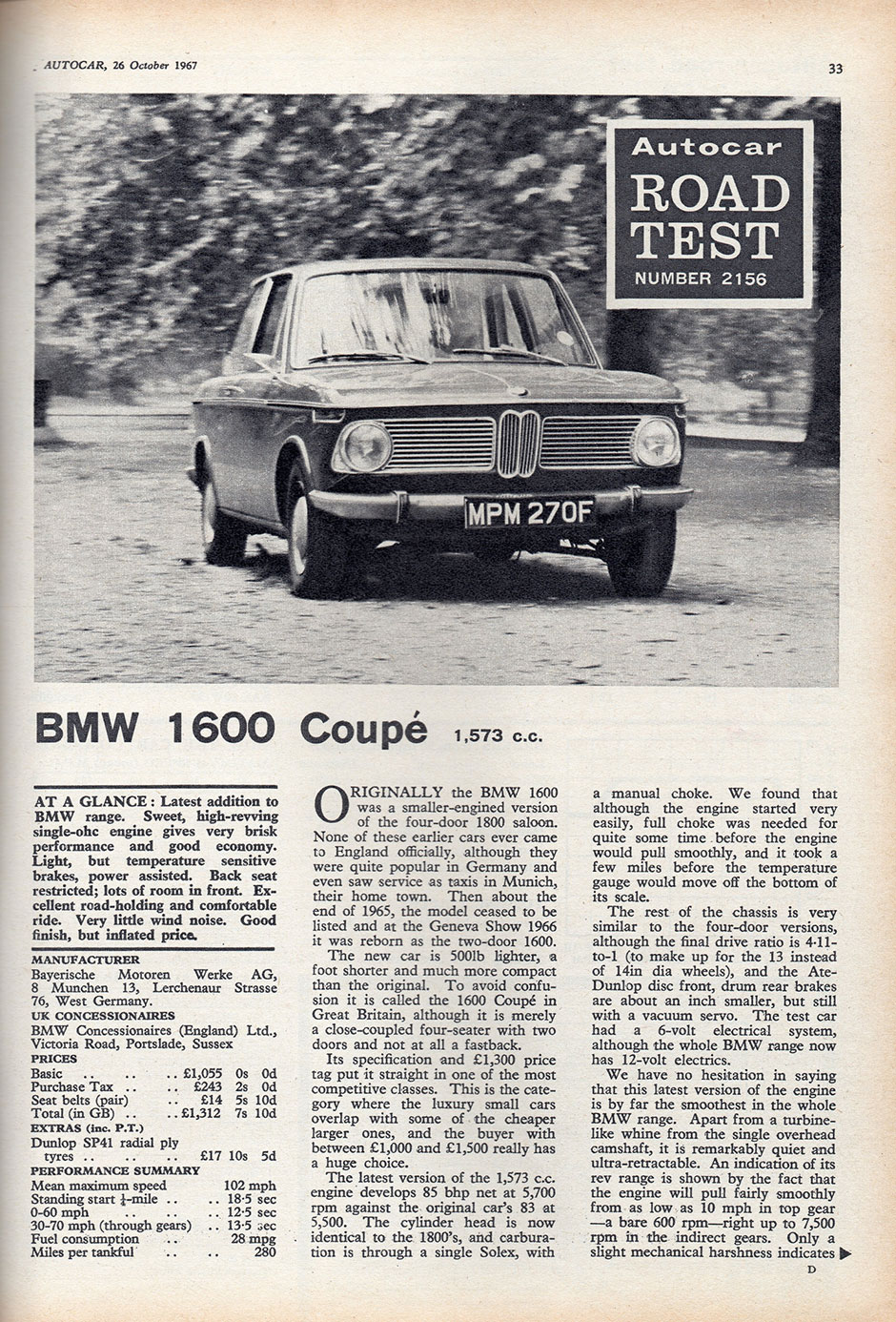 BMW 1600 Coupe