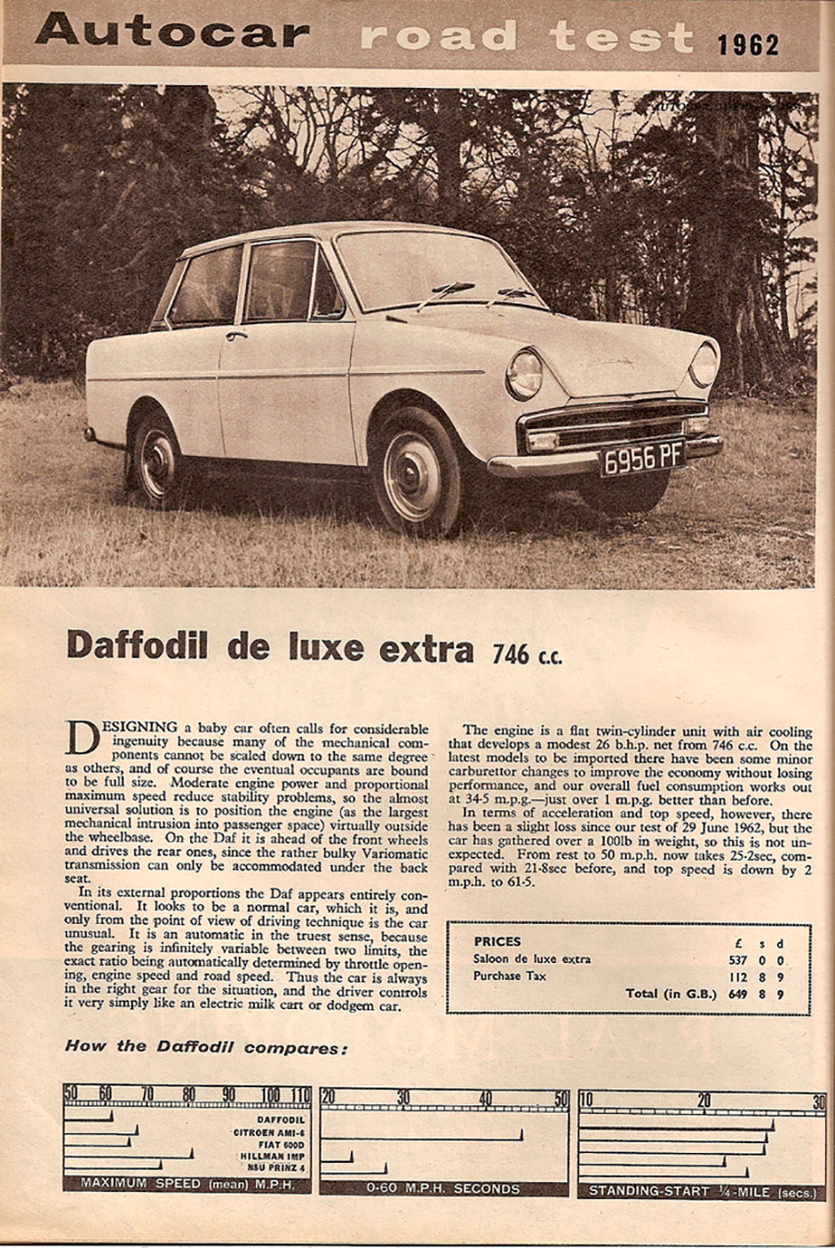 DAF Daffodil De Luxe Extra