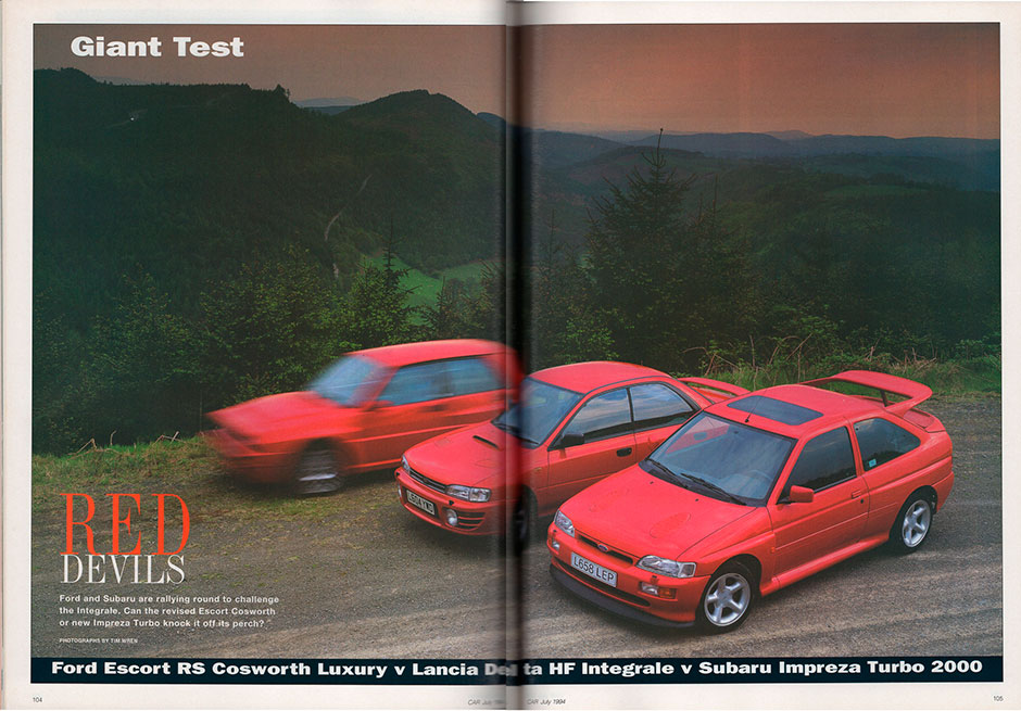 Ford Escort RS Cosworth 4x4, Lancia Delta HF Integrale 4WD, Subaru Impreza Turbo
