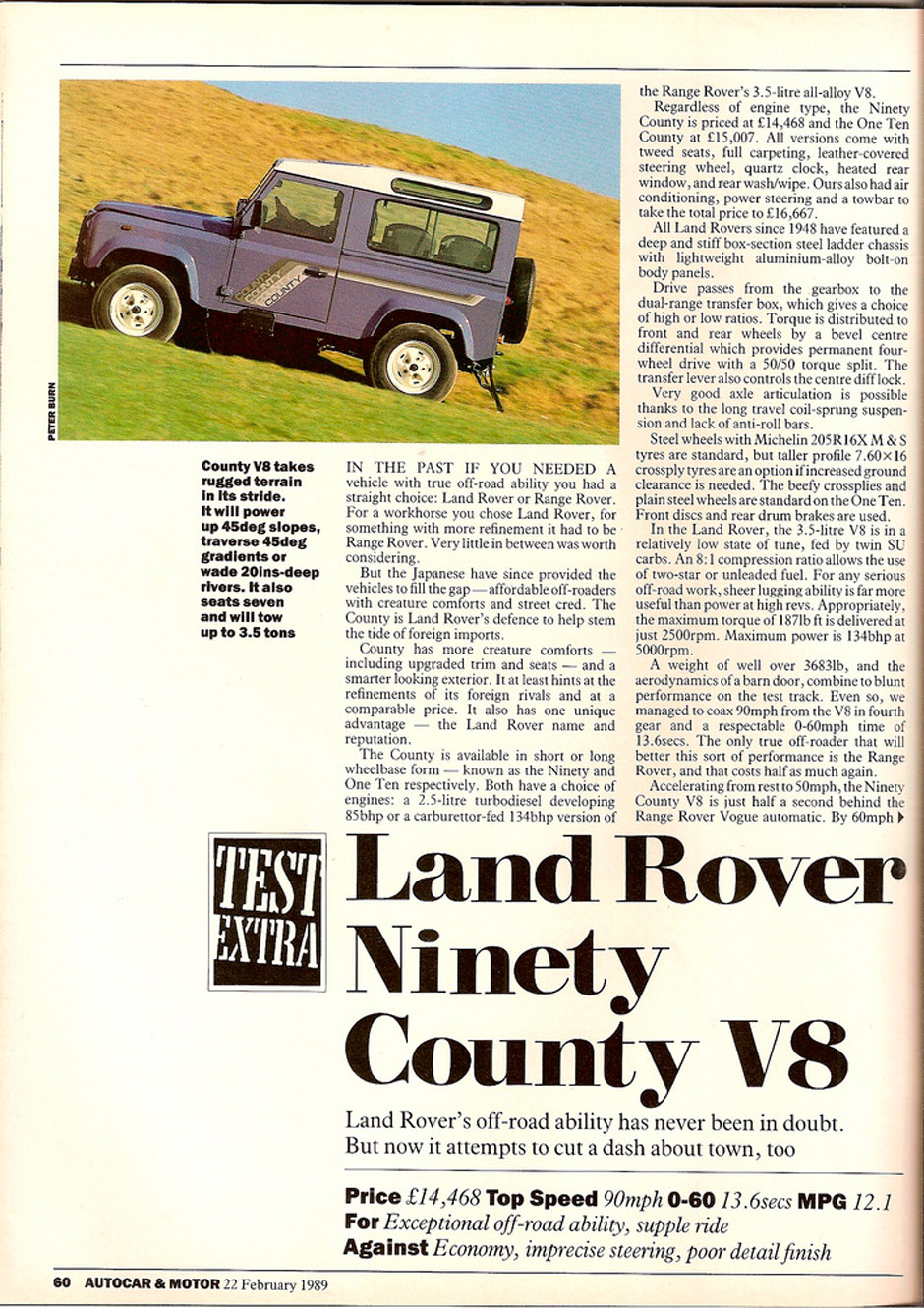 Land Rover 90 County V8