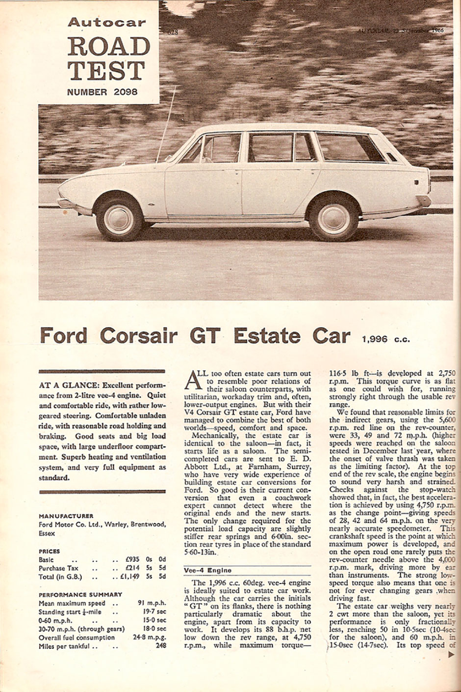 Ford Corsair 2.0 GT Estate