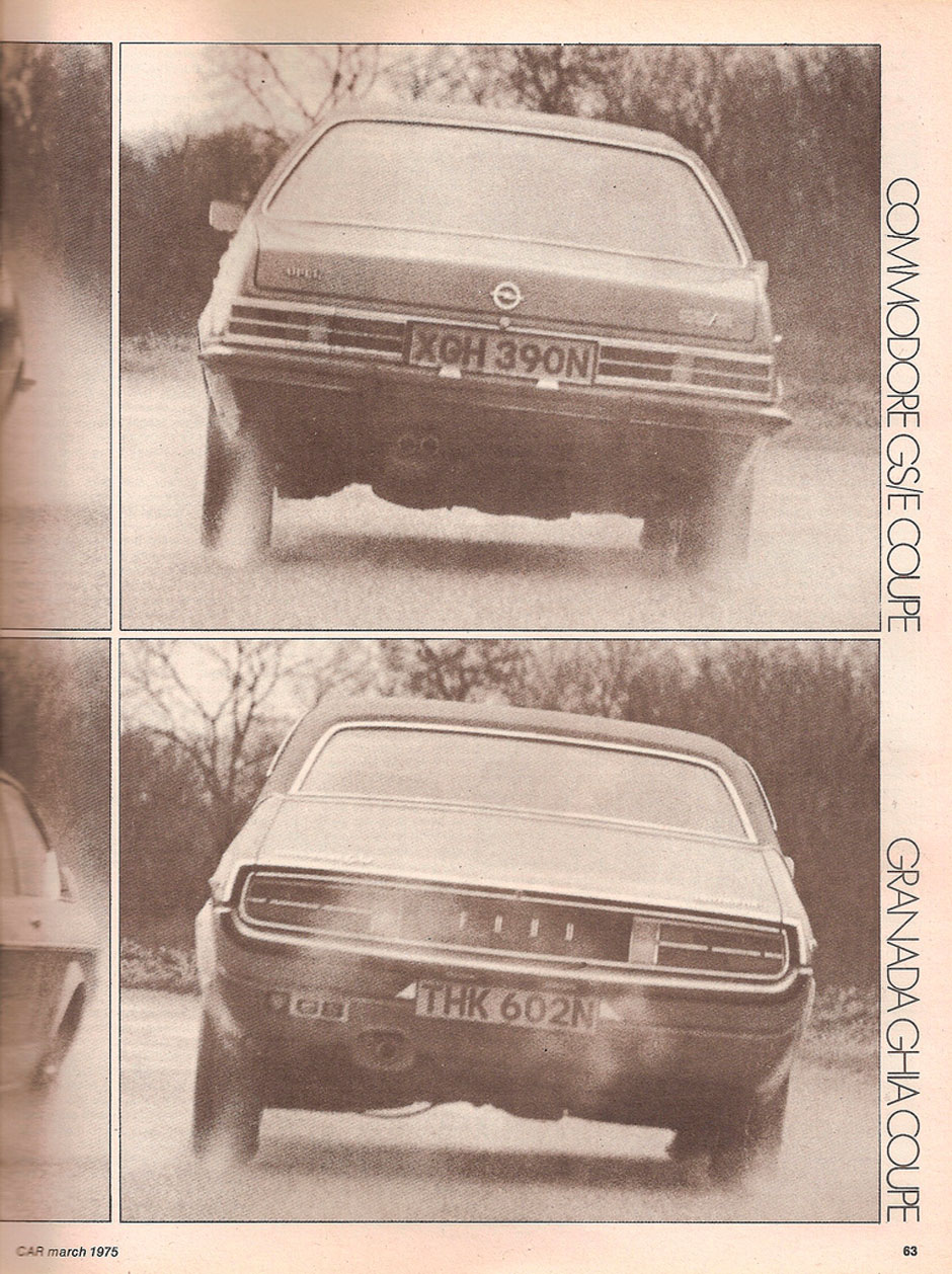 Opel Commodore GS/E Coupe и Ford Granada 3.0 Ghia Coupe