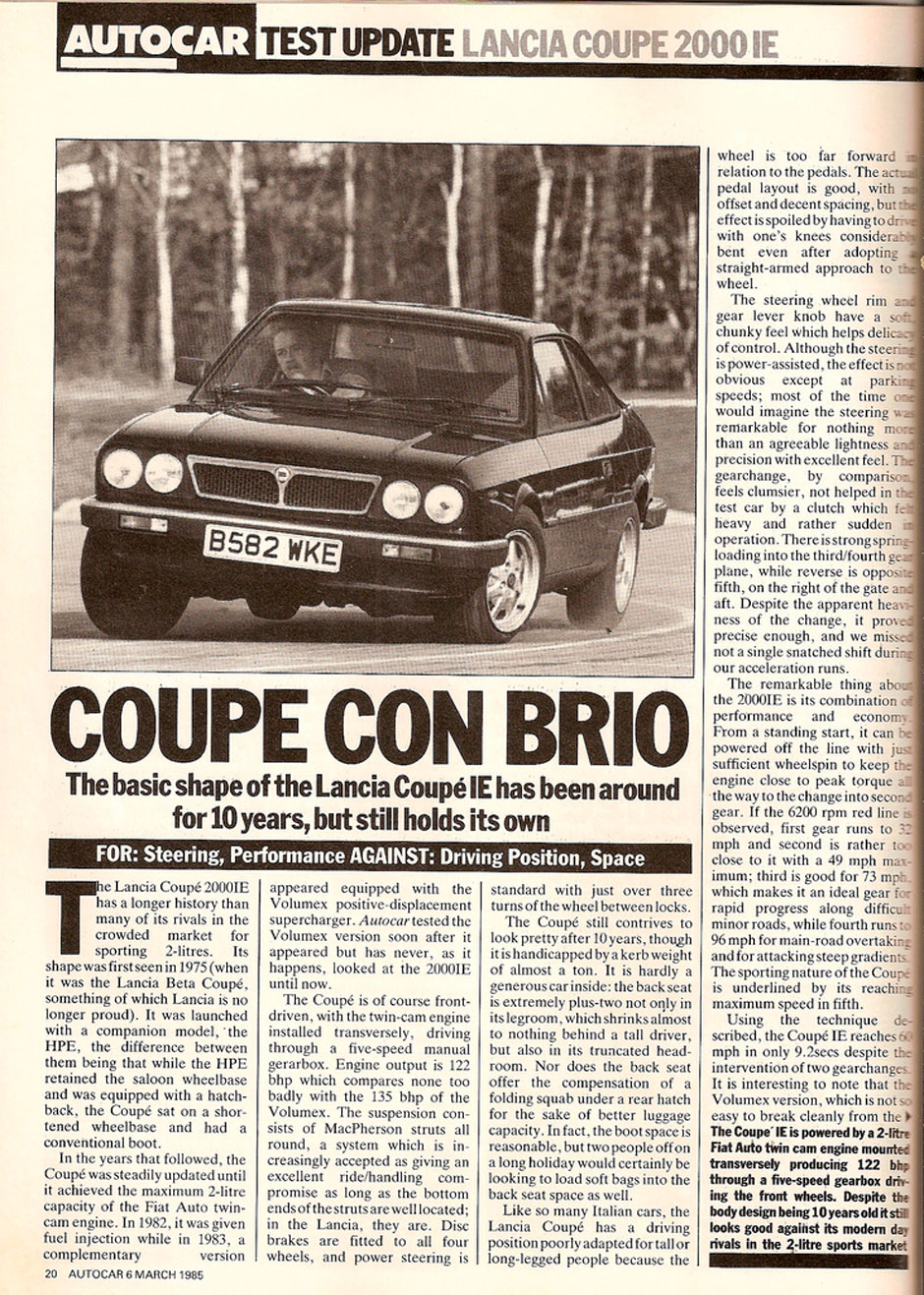 Lancia Coupe 2000 IE