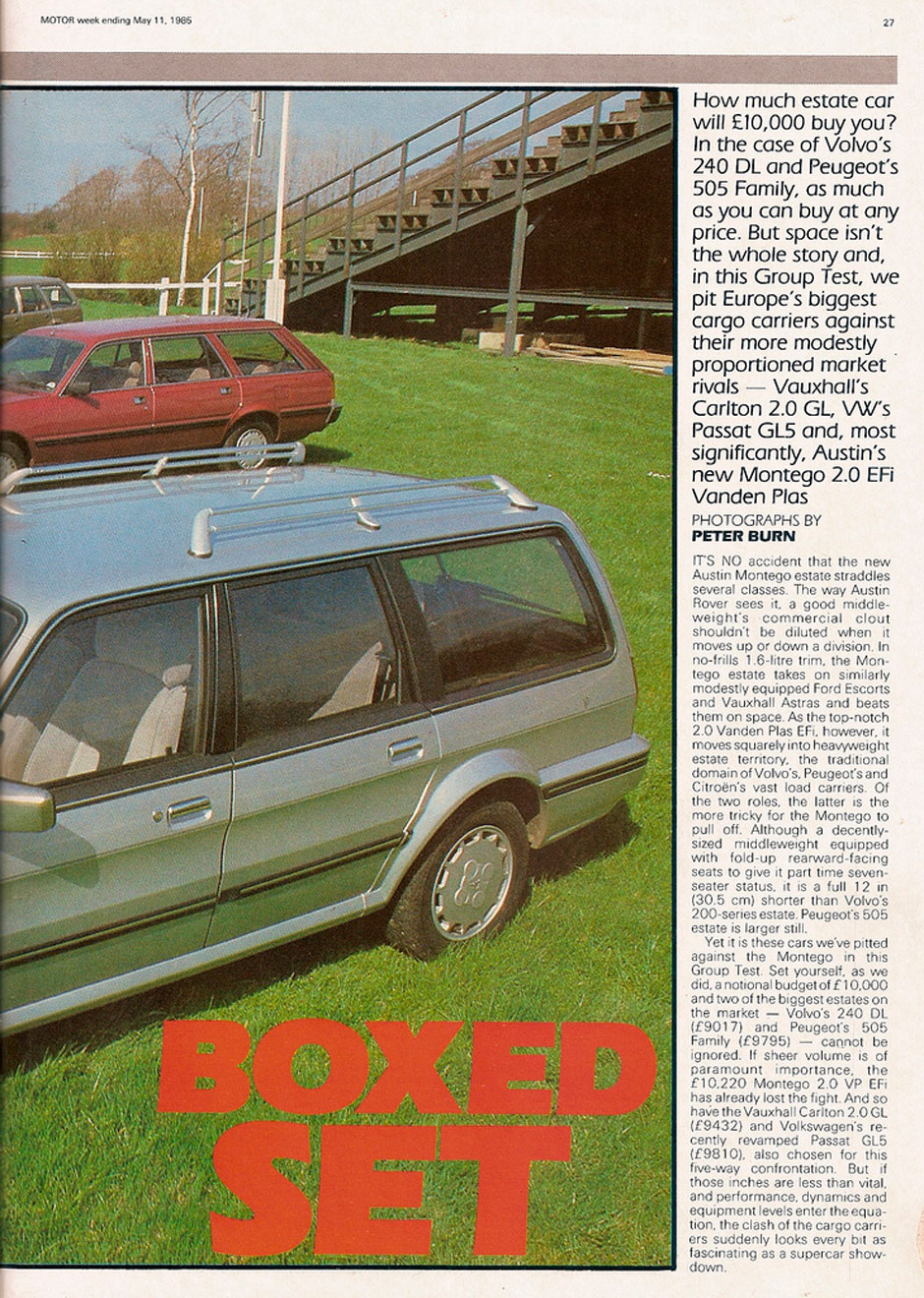 Volvo 240 Estate, Peugeot 505 Family, Vauxhall Carlton Estate, VW Passat Wagon, Austin Montego Estate