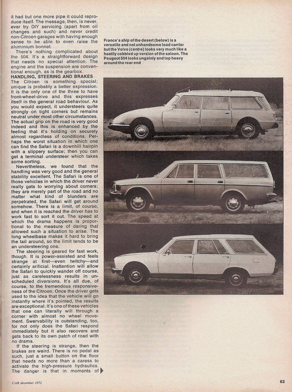 Citroen DS Safari, Volvo 145 Estate и Peugeot 504 Estate