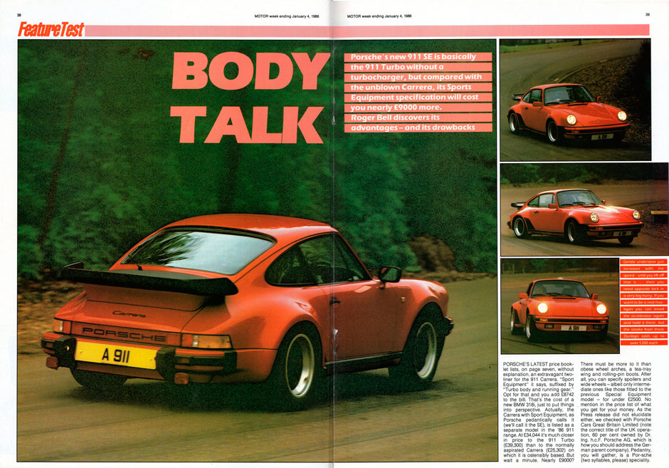 Porsche 911 Carrera SE Turbo-look