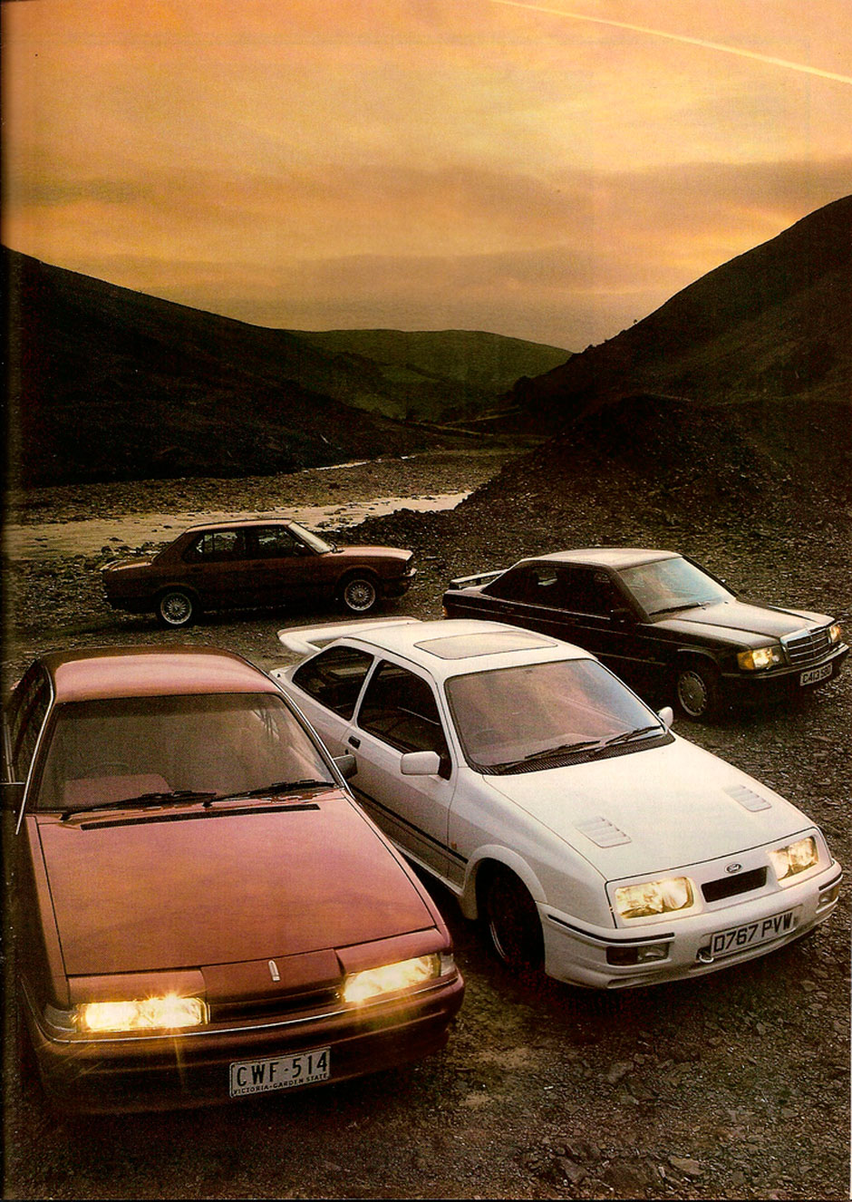 BMW M5 E28, Ford Sierra RS, Holden Commodore HDT, Mercedes 190E 2.3-16
