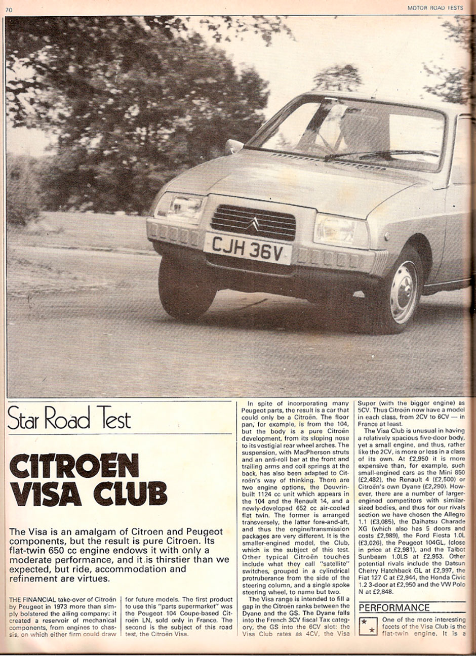 Citroen Visa 650 Club